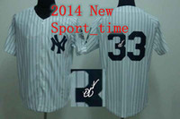 Baseball Men Short Yankees #33 blank baseball jerseys Nick Swisher white pinstripe autographed jersey 2014 new arrival popular athletic apparel jersey shirts