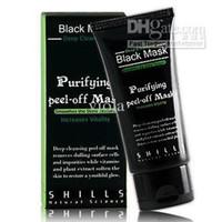 Wholesale 100pcs SHILLS black mask deep cleansing purifying peel off mask remove blackhead facial mask Pilaten ml