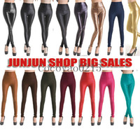 Leggings Skinny,Slim Washed Free shipping 50PCS Lot New Arrival 15 style 4 size High-waist Black Stretch Material Stretchy Leather Leggings leopard XS S M L