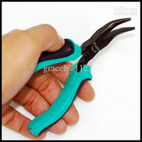 Wholesale Dual color non slip TPR handles Bent Nose Plier