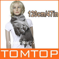 Wholesale Fashion Animal Soft Warm Fluffy Plush Cartoon Bear s Paw Scarf Glove Grey for Ladies