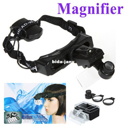 Wholesale 8 Lens Headband Head Strap Magnifier Watch Repair Magnifying Jeweler Loupe with LED Light Freeshipping Dropshipping