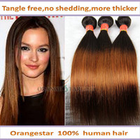 Brazilian Hair Straight two tone colored 1b-30# Hot queen brazilian ombre hair extensions 3 bundles ombre straight hair weave two tone human hair weave 1b-30# remy hair weft