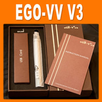 Electronic Cigarette Set Series  newest electronic cigarette ego v v3 battery variable voltage battery 1300mah ego VV VW battery e cig battery free shipping by DHL 0204042
