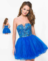 Reference Images Tulle Sexy 2014 Sexy Blue Crystals Wow Short Prom Dresses lace up Beaded Sequins Mini Graduation Cocktail Party Homecoming Gowns Free Shipping Custom