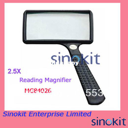 Wholesale Portable Handheld X high definition Rectangle Reading Magnifier Glass lens Loupe for old people reading MG84026