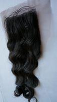 Wholesale 4x4 Loose Wave Queen Top Closure Middle Part Brazilian Human Virgin Hair Closure Lace Closure Bleached Knots