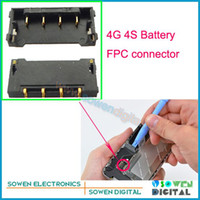 Wholesale FPC connector for iPhone g S Battery Clip on motherboard mainboard original new