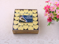 Wholesale Heart shaped Tealight tea candles romantic candle for Wedding Birthday