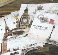 Wholesale 18 Pages Set Lomo Style Classic European Greeting Cards The Eiffel Tower In Paris