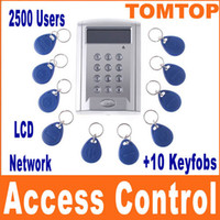Wholesale LCD Display Networking Entry Door Access Control System Key Fobs H4393 freeshipping Dropshipping