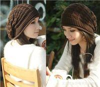 Beret beret pattern knit - Fashion Korean Spring Autumn Women Beanies Warm Knitting Hats Triangular Pattern Hot Selling Couple Caps