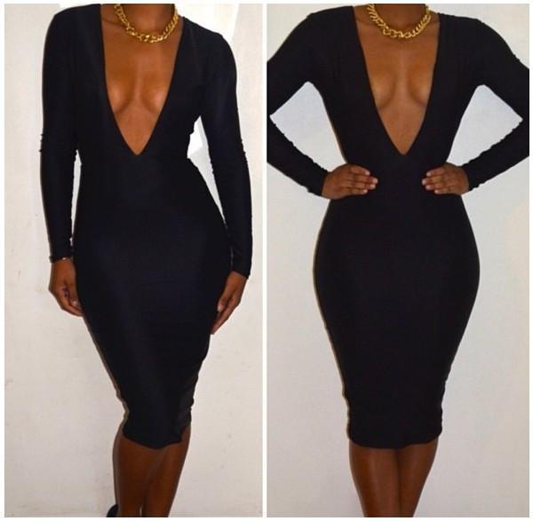 Платья с большим вырезом