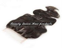 Cheap Brazilian Hair silk base closure Best Natural Color Body Wave silk base