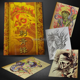 Wholesale Selected Hot Skull Koi Hannya Lion Flash Design Tattoo Sketch Manuscript Book