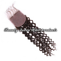 Cheap Brazilian Hair silk base closure Best Natural Color Curly silk base