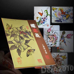 Wholesale A3 quot x quot Butterfly amp Flowers Flash Tattoo Manuscripts design book sketch Art