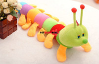 Teddy Bear White Plush [1st baby mall]Retail 1pc Hot Sale 2014 rainbow baby pillows cartoon animal caterpillar baby plush toy cute baby plush dolls