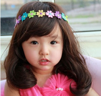 Wholesale 2014 Hot new Korean fashion cute baby child flower ribbon hair bands hair accessories