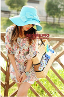 Wholesale Free send The summer holiday for Ms Sun hat Straw hat beach hat sunscreen cap