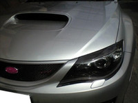 Wholesale Carbon Fiber Headlight Eyelids EYebrows Covers for Subaru Impreza WRX STi