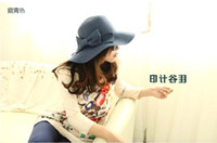 Wholesale The summer holiday for Ms Sun hat Straw hat beach hat sunscreen cap china post send free gogo001 AAA