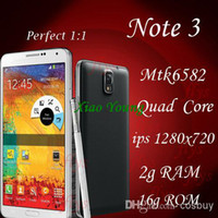 Wholesale 2014 Hot New HD Screen mtk6582 Quad Core Note3 Android IPS x720 g CPU gRAM g ROM WIFI g Smart phone