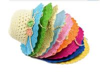 Wholesale Children s hat Summer new children s hat folding Straw hat of the girls Sun hat