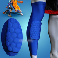 Elbow & Knee Pads Yes Blue Honeycomb Pad Crashproof Antislip Basketball Leg Knee Long Sleeve Dark Blue M