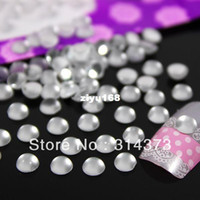 Wholesale 1 Pack Clear Frosted Acrylic Silver Back Plastic mm Round Beads Nail Art Cellphone Cover Jewelry Making Craft Design Decoration