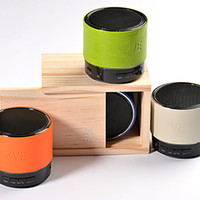 Wholesale Fashion Portable Speaker Loudspeaker Wireless Bluetooth MiNi Speakers ZVE Z Good Sound Exquisite Leather with delicate wooden box color
