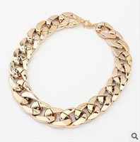 Wholesale Western Necklace Thicker Chokers CCB Coating Gold Silver Black Color Mix N2