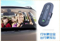 Wholesale Handsfree Bluetooth Wireless Speakerphone Car Kit with Car Charger black blue red High Quality Universal Speakerphone