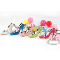 other souvenir keychain - Women s high heeled shoes keychain small accessories student gift souvenir key chain