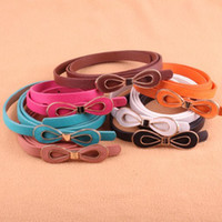 Wholesale Fashion high quality big bow belt candy colors belt for gril for women belt
