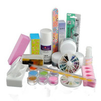Wholesale Acrylic Powder Liquid Glitter Strip French Nail Art Decorations Rhinestones Manicure UV Gel Tip Full Set