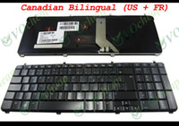 Wholesale New Laptop keyboard FOR HP Pavilion dv7 dv7 dv7 dv7 dv7 Glossy Black Canadian Bilingual US FrencH Version