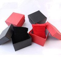 Wholesale Fashion New Paper Watch Box with Soft pillow Paper Gift Boxes Case For Bangle Jewelry or Watch colors