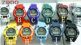Wholesale Hot luxury Black G Watch jelly Shocking Sports Watches G7900 Digital Wristwatches colors Freeshipping hg