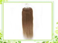 Wholesale 20inch g Grade AAA remy human hair S Micro rings loop hair Hair Extensions stock sliky straight