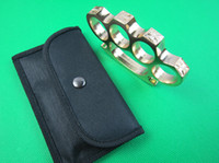 Wholesale Qty BRASS KNUCKLE DUSTER METAL THICK BELT BUCKLE GOLD