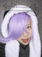Wholesale UN GO Purple Short Styled Synthetic Cosplay Costume Wig