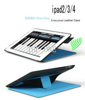 Wholesale Heat Dissipation Amplifying Hibernation design ipad cover Smart Case ipad case ipad case ipad case with hand belt dhl free new arrival