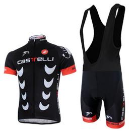Wholesale 2014 Factory Racing Cycling Jerseys Stripe Bike Wear Black short Sleeve Bike Tops Bike Bib White bib None bib Trousers Bike Shirts
