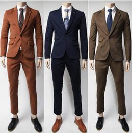 Wholesale Hot Sale Korean Slim Men Suit Long Sleeve Casual Washed Men s Outwear Mens Suit