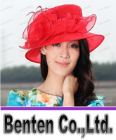 Wholesale LLFA4599 Women hat church hat women organza hat ladies sun shading beach hat fashion haircord