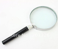 achat en gros de cadre de définition-75mm plastic handle metal Frame Optical Glass Lens Magnifier haute définition! Livraison école design.free!