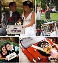 Wholesale Custom made Marriage Wedding Car Decoration Festive License Plate Number Custom Wedding Car Marriage Car