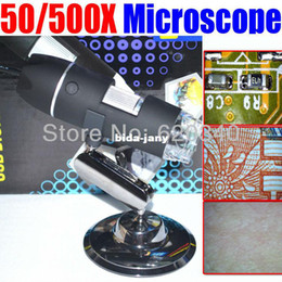 Wholesale 500 X USB Electron microscopic digital magnifying glass for Industrial testing textile with measurement
