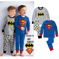 Wholesale 5set baby clothing suit Superman Boys long sleeved T shirt Trousers baby home leisure suit